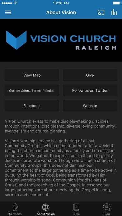 Vision RDU screenshot two