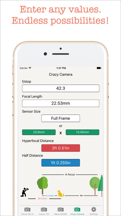 Hyperfocal Distance Calculator screenshot-3