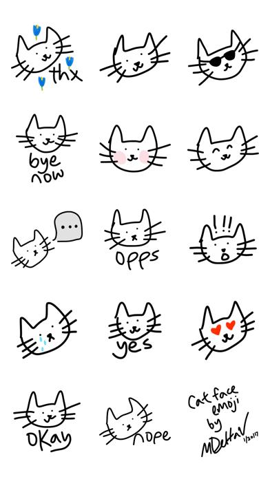 Cat stickers for iMessage, cats pic keyboard emoji screenshot three