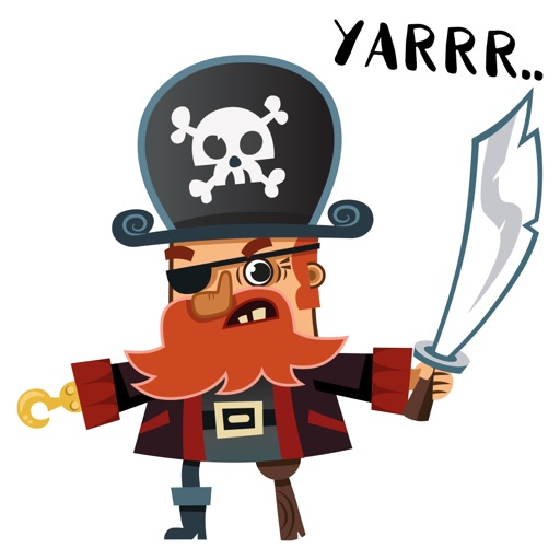 Animated Pirate Stickers