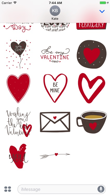 Be My Valentine for iMessage Stickers screenshot-3