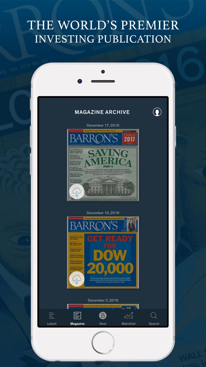 Barron's – Global Stock Markets & Financial News Screenshot