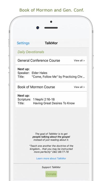 TalkMor: LDS Daily Devotional Book of Mormon/Gen C by Nuvek, LLC
