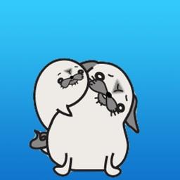 Pug Dog And Sea Dog Sticker