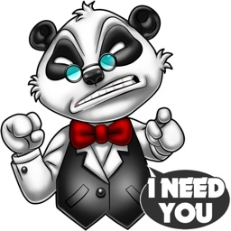 Meet Boss Panda stickers by Choppic