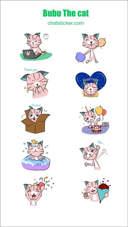 Bubu The Cat Stickers screenshot-4