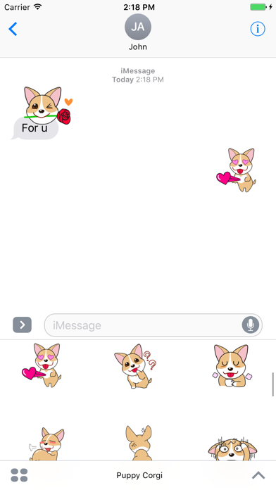 Puppy Corgi Animated Sticker