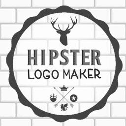 Hipster Logo Maker - Logo Maker & Logo Creator B&W