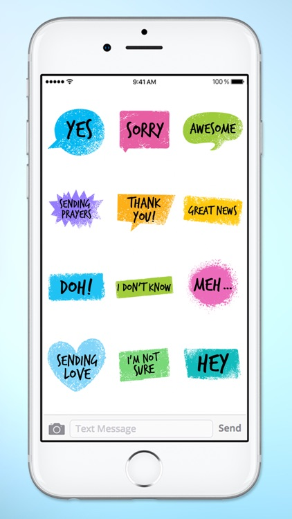 Colorful Words Text Sticker Pack screenshot-4