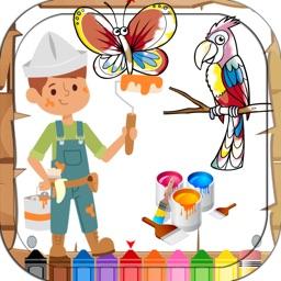 Kids Coloring Book Cute Animal
