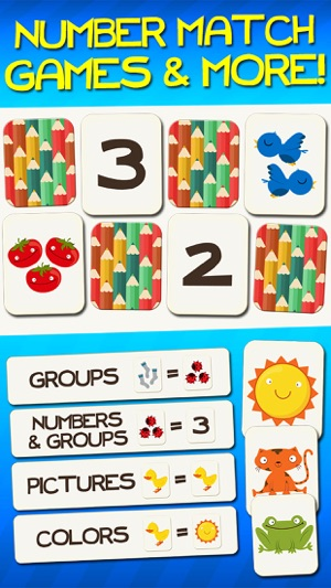 c820e8abf45d Number Games Match Game Free Games for Kids Math on the App Store