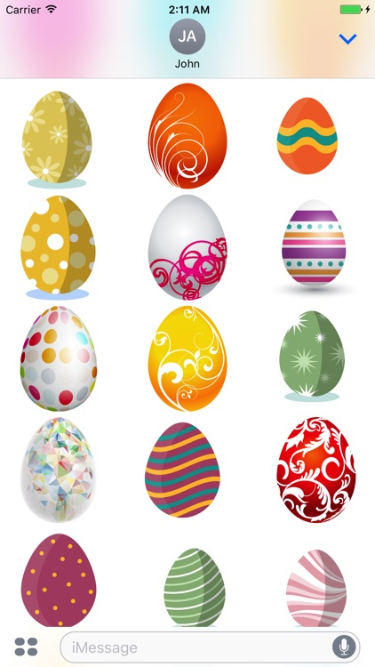 Easter Eggs Sticker for iMessage screenshot-2