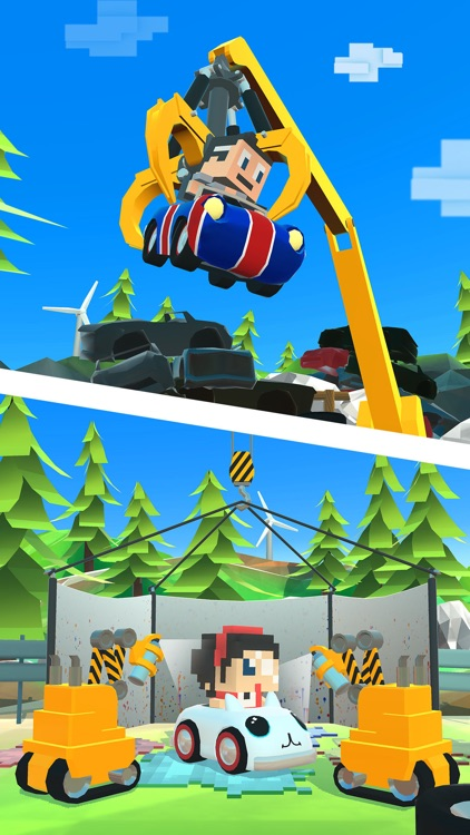 Blocky Racer - Endless Arcade Racing screenshot-3