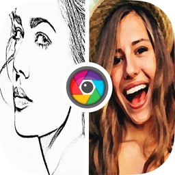 Photo pencil drawing, sketch, oil painting filters