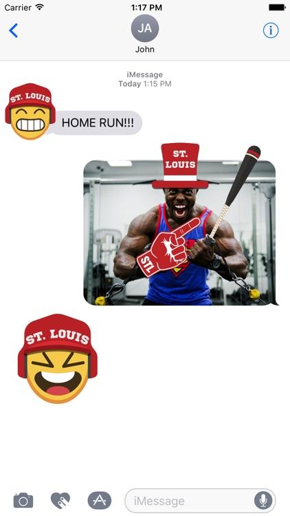 St. Louis Baseball Stickers & Emojis