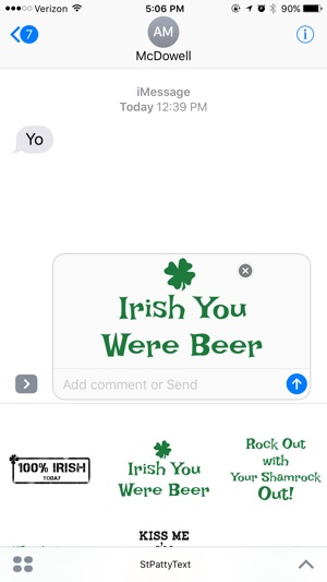 St Patty Text By Catchy On The App Store