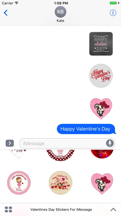 Valentine Day's Stickers Pack For iMessage screenshot-3