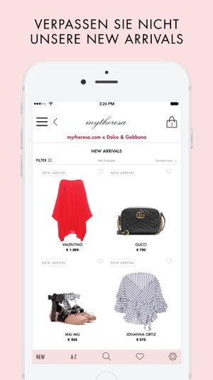 mytheresa.com - Mode & Fashion Screenshot