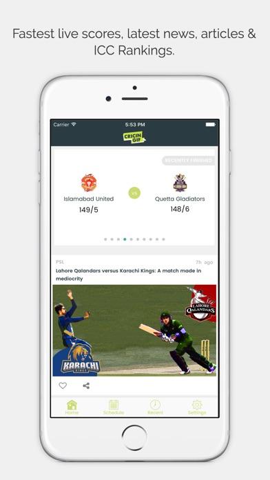 Cricingif-Live Cricket Scores - AppRecs