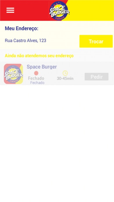Space Burger Delivery app image