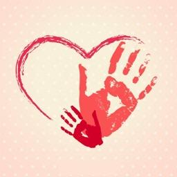 Hand-Drawn Love Stickers