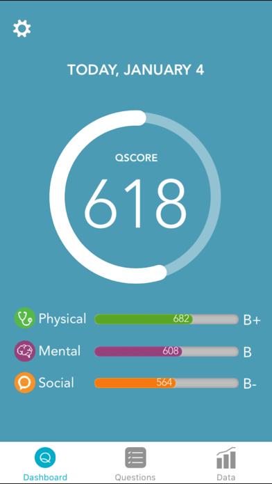 Qualia Plus - Health Score and Tracker screenshot one
