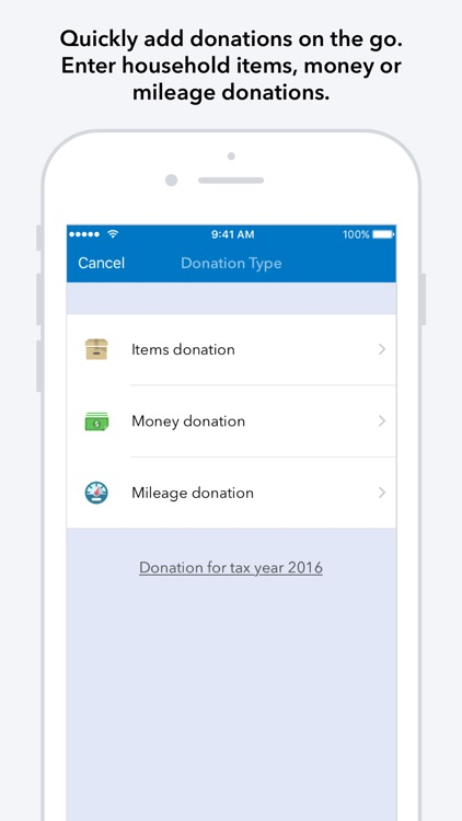 ItsDeductible Charity Donation Tracker
