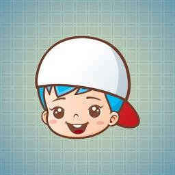 Sticker Me White Hat Boy