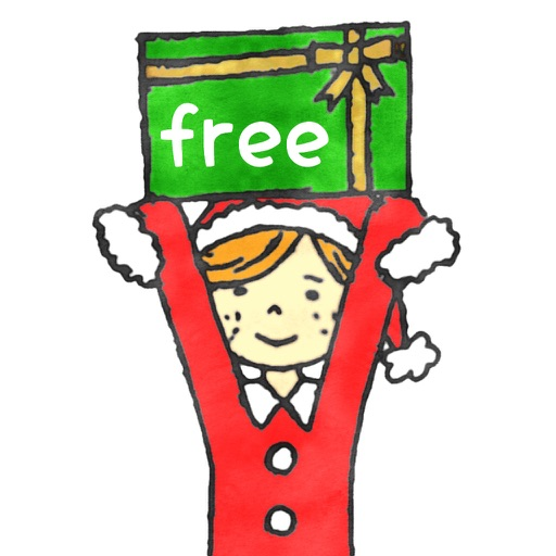 Happy Xmas Stickers -free-