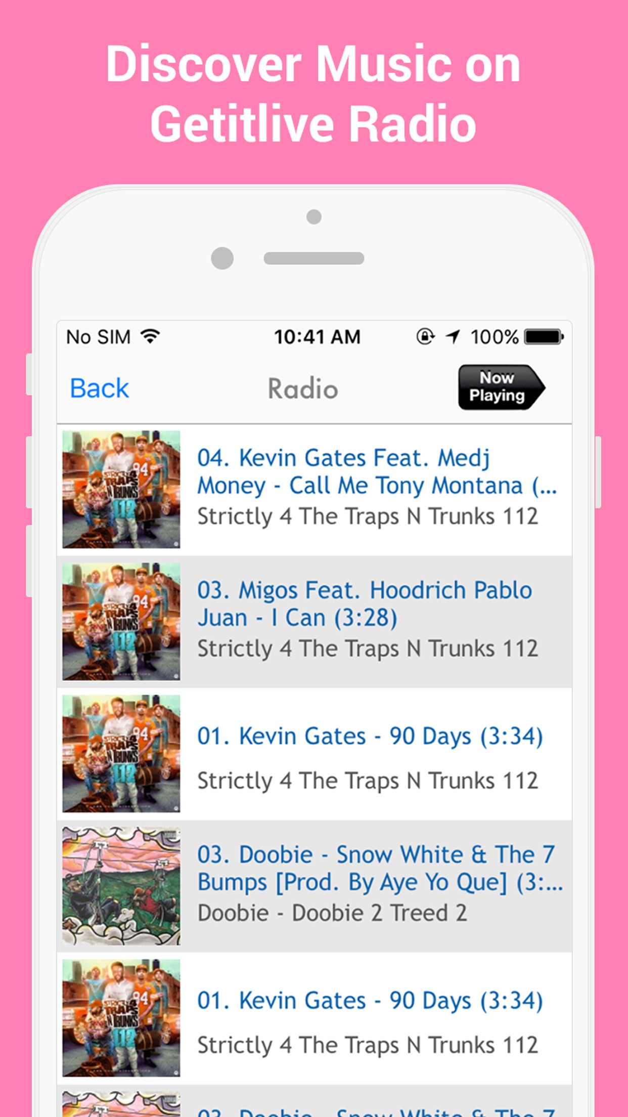 GetItLive - rap/hiphop livemixtapes & radio Screenshot