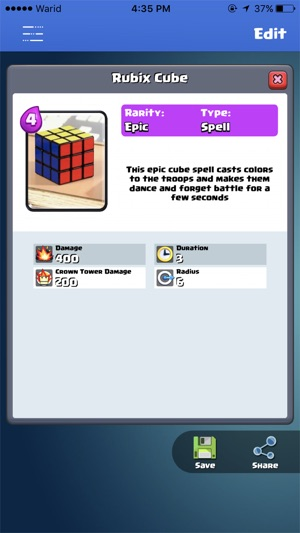 download card creator for clash royale