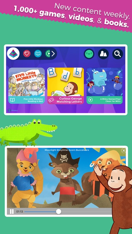 Curious World: Games, Videos, Books for Children