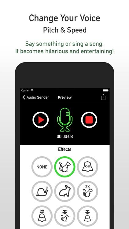 AudioSender - Pre-record Audio Voice Changer