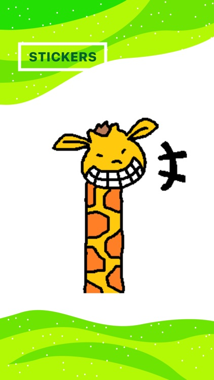 Giraffe Stickers for iMessage by Design73