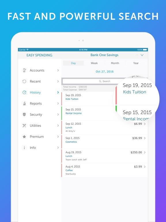 Screenshot #2 for Easy Spending -Expense Tracker