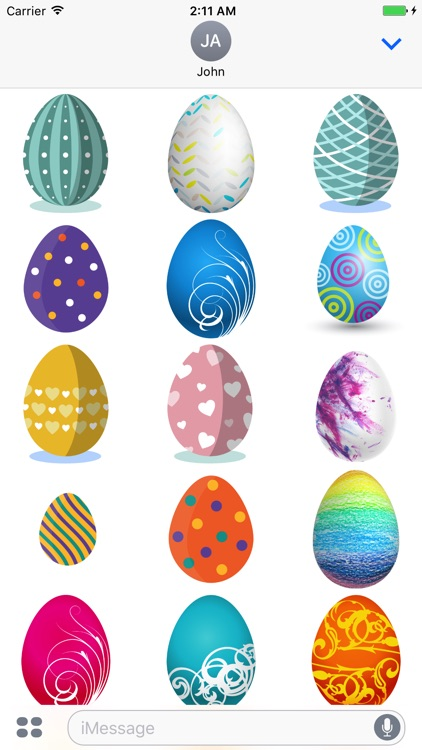 Easter Eggs Sticker for iMessage