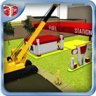 Constructor de estación de combustible simulador y icon