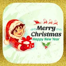 Новогодние милые стикеры на Новый Год и Рождество