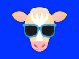 Blonde White Cow Emoji Stickers for iMessage