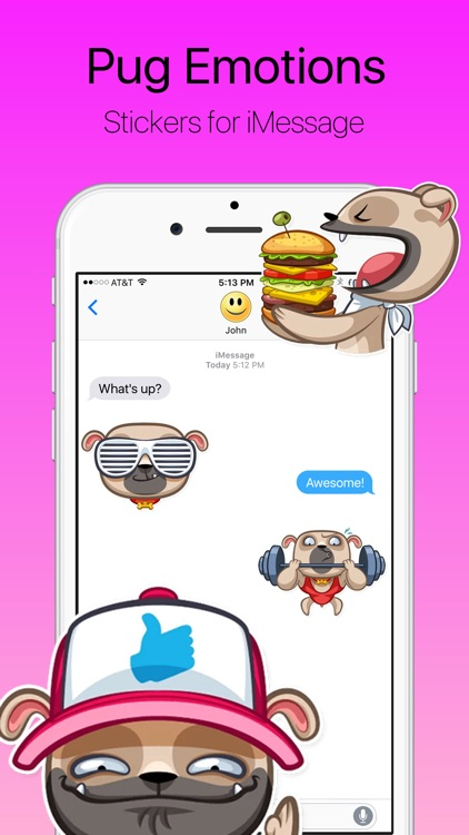 Pug Emotions Stickers