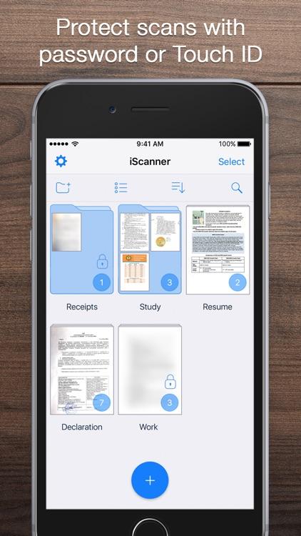 iScanner - PDF Document Scanner App app image