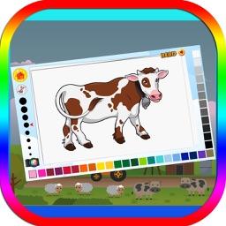 Farmland Coloring Book for Kids