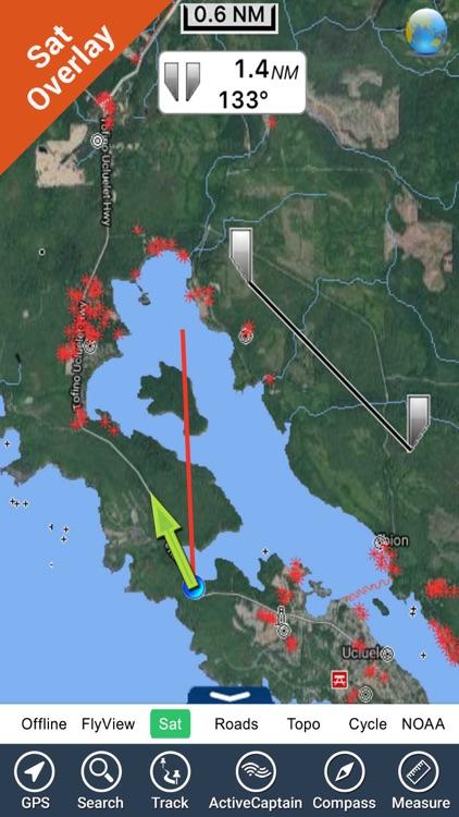 Pacific Rim Reserve NP HD GPS charts Navigator
