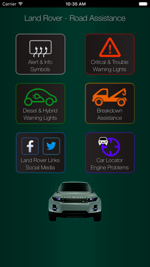 Land Rover Range Rover Warning Lights Problems On The App Store
