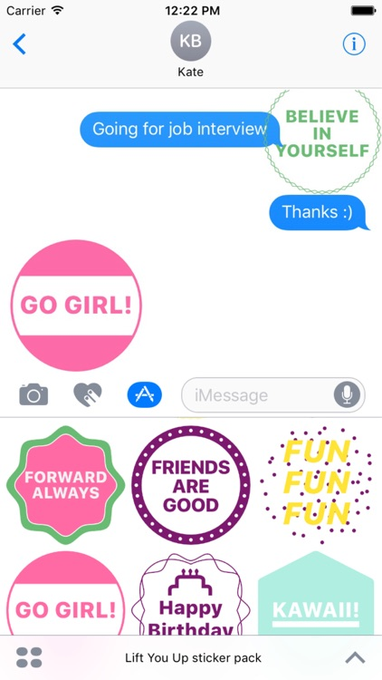 Lift You Up sticker pack
