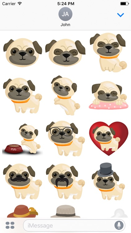 Pug Emoji & Stickers