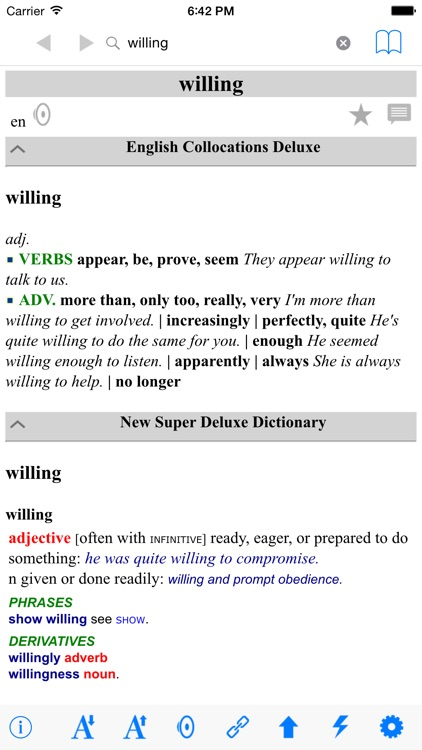 New Deluxe Dictionary Thesaurus Collocations