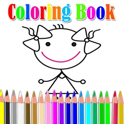 Fun Coloring Book for girls