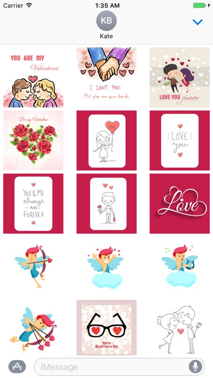 Be my Valentine - stickers