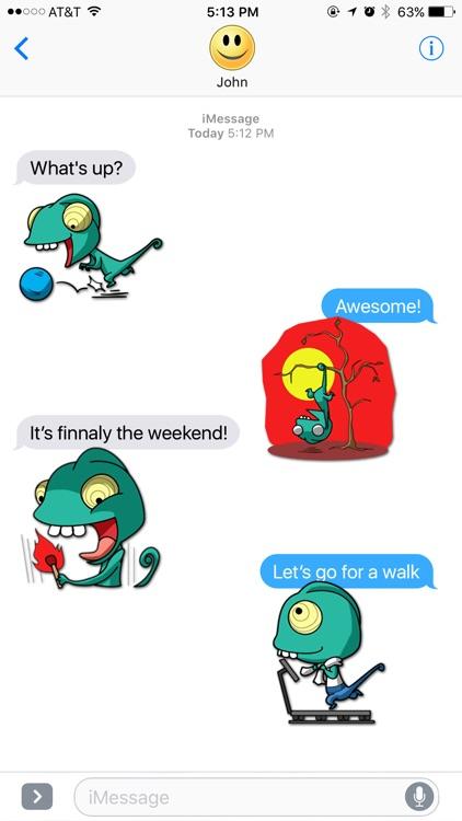 Chameleon Lifestyle Stickers